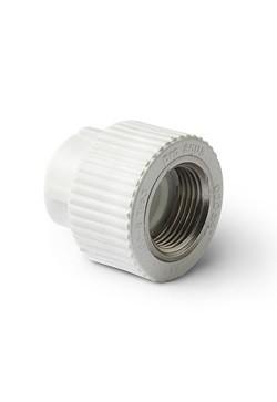 ППР Pro Aqua муфта комбинированная (внутренняя резьба) 20-1/2 белая