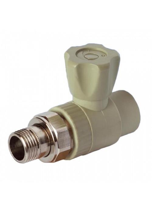 Краш шаровый Valfex для радиаторов прямой 20-1/2 серый