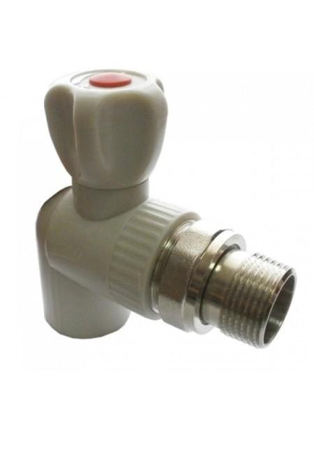 Кран шаровый Valfex для радиаторов угловой 25-3/4 серый