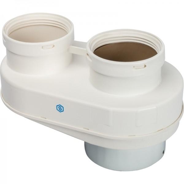 STOUT Элемент дымохода DN80/80 адаптер для подключения раздельных труб (Protherm)