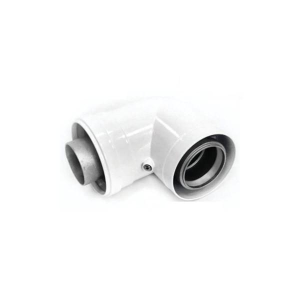 BCSA0486 Угол 90 гр. 60/100 White Navien