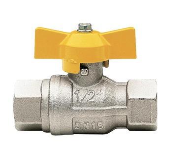 Кран шаровый муфтовый для газа полнопроходной бабочка IT-IT 072(8) 1