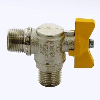 IT-IT 060 (12) Кран газовый угловой Н-Н бабочка 1/2