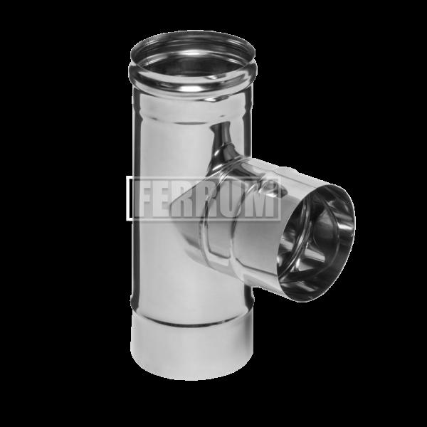 Тройник Ferrum ДУ 110 нержавеющая сталь