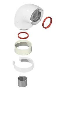 Отвод коаксиальный 60/100 угол 90 (Ariston, Baxi,Viessmann) KRATS
