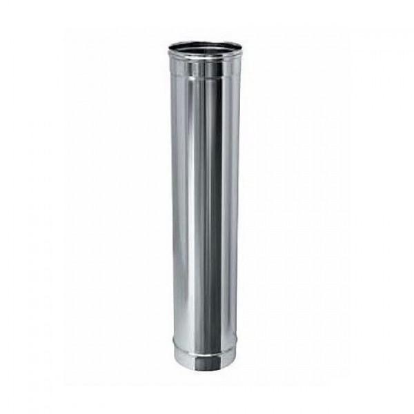 Дымоход ДУ 115 зеркальная нержавеющая сталь L=1,0м