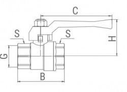 """Кран шаровой для газа внутренняя/внутрення рычаг, 2"""" VALFEX"""