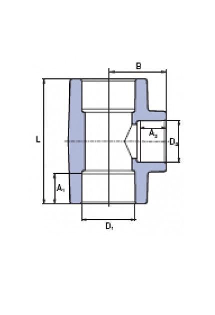 ППР Тройник переходной 63x32x63мм
