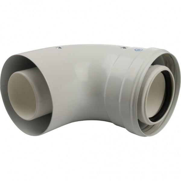 Угол конденсационный 90° D 60/100 (м-п) KRATS
