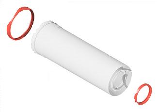 Удлинитель дымохода коаксиальный раструбной 60/100 250мм KRATS