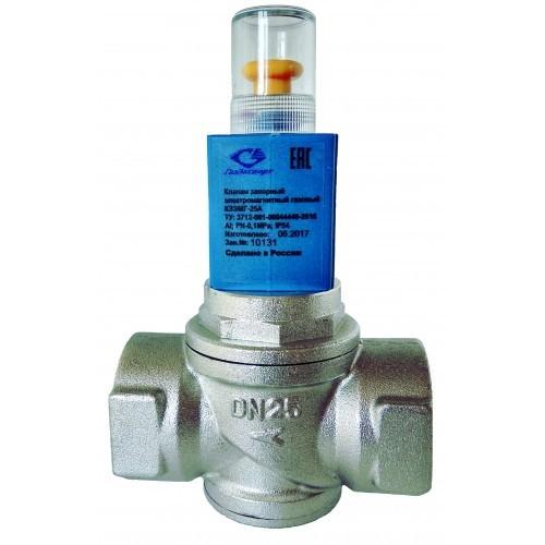 Клапаны запорные электромагнитные газовые КЗЭМГ-Ду25